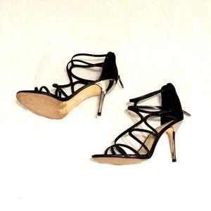 Imagine Vince Camuto Black Glitter Stilettos 8.5